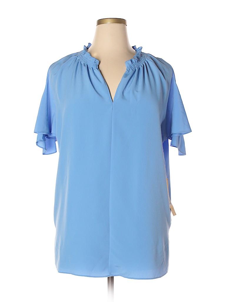 RACHEL Rachel Roy Women Short Sleeve Blouse Size 0X (Plus)
