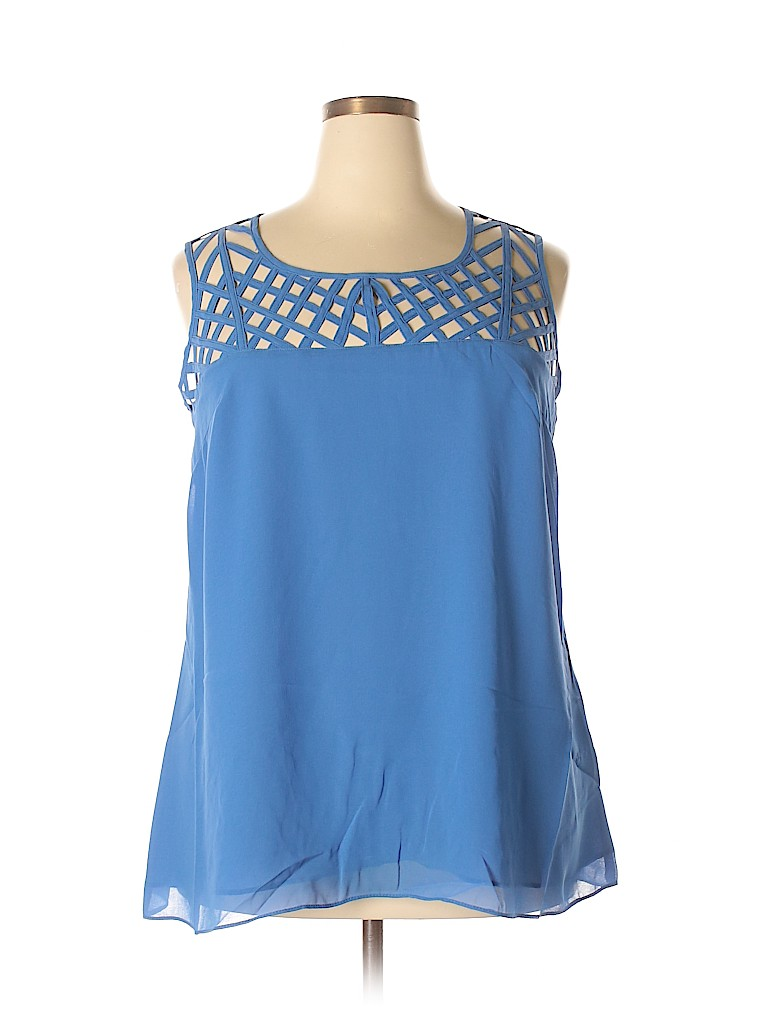 City Chic Women Sleeveless Blouse Size 16 (S)