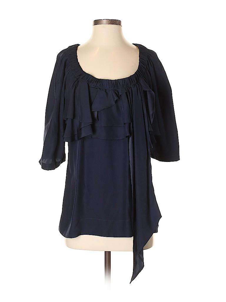 Vena Cava Women 3/4 Sleeve Silk Top Size 4