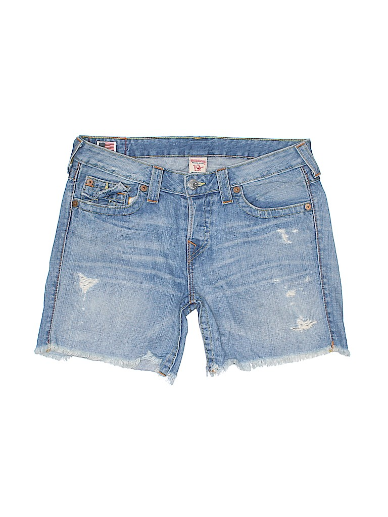 True Religion Women Denim Shorts Size 30 (Plus)