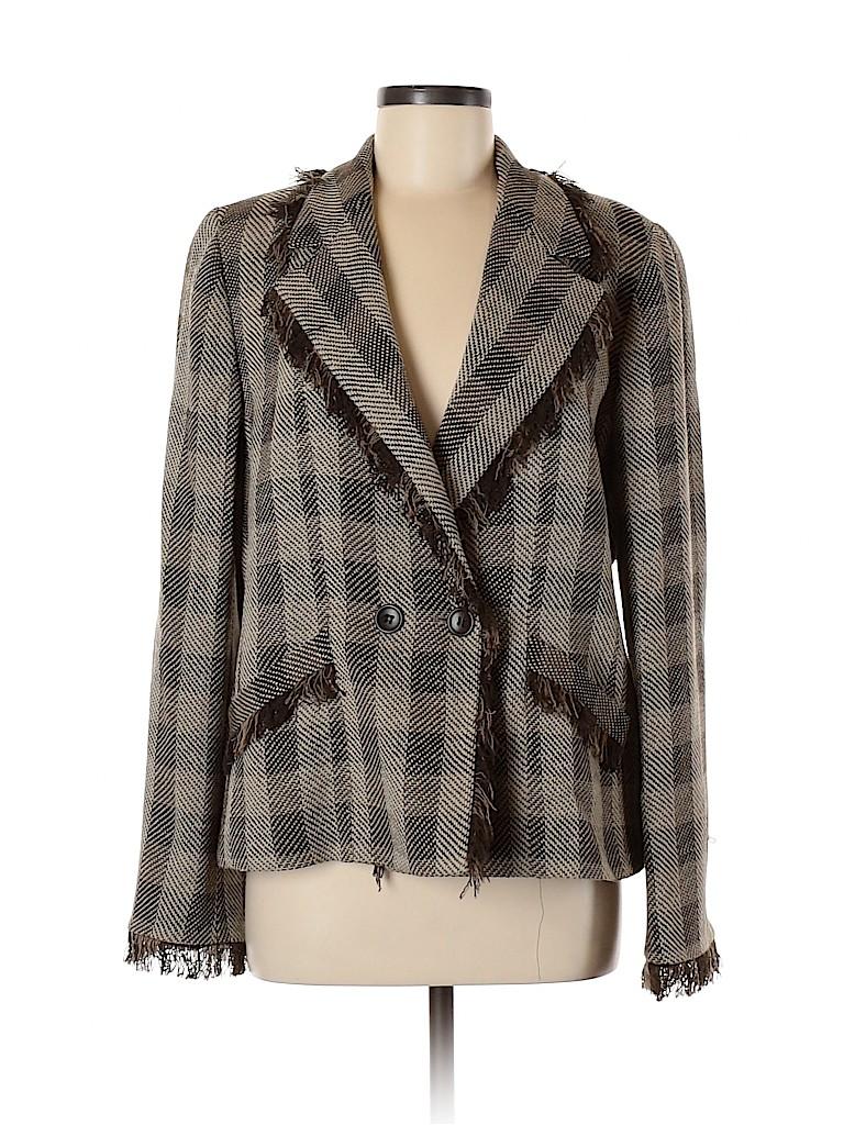Armani Collezioni Women Wool Blazer Size 48 (IT)
