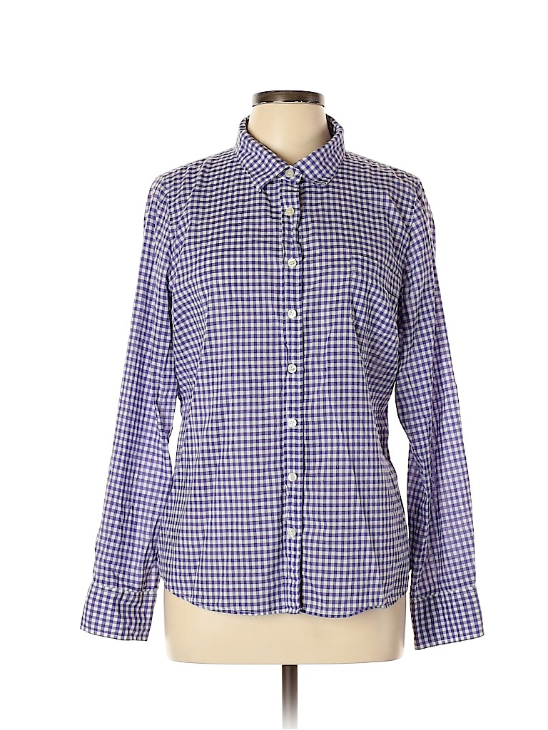 J. Crew Women Long Sleeve Button-Down Shirt Size XL