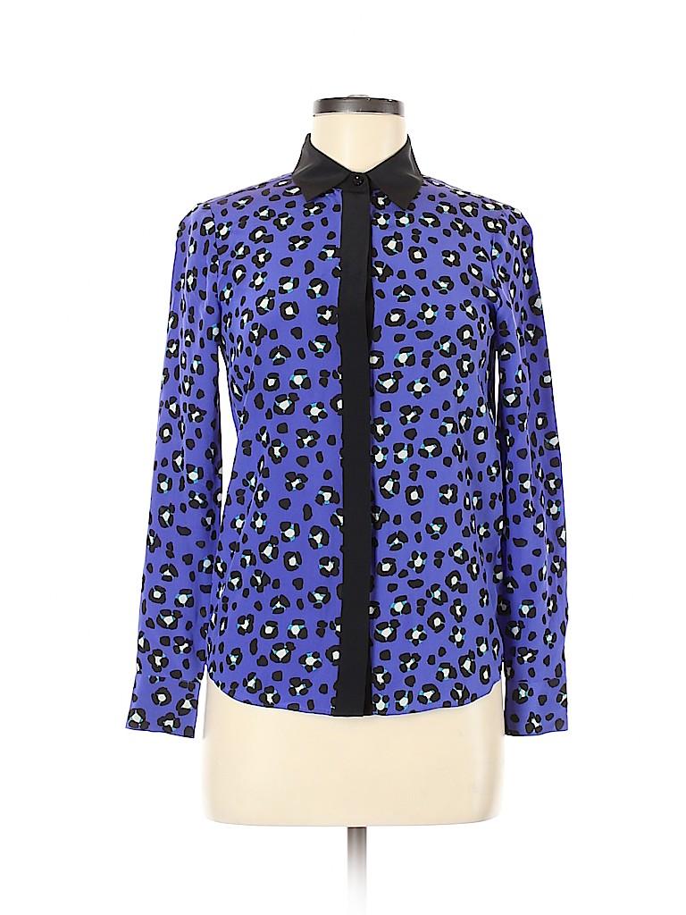Kate Spade New York Women Long Sleeve Silk Top Size 00