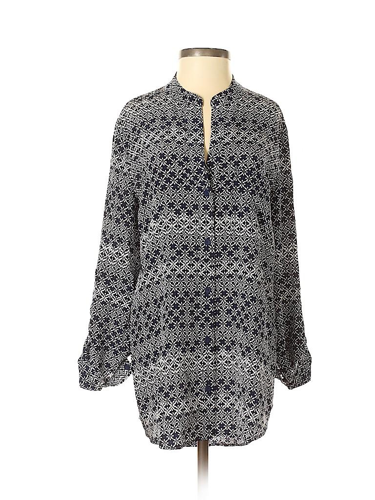 Diane von Furstenberg Women Long Sleeve Silk Top Size 0