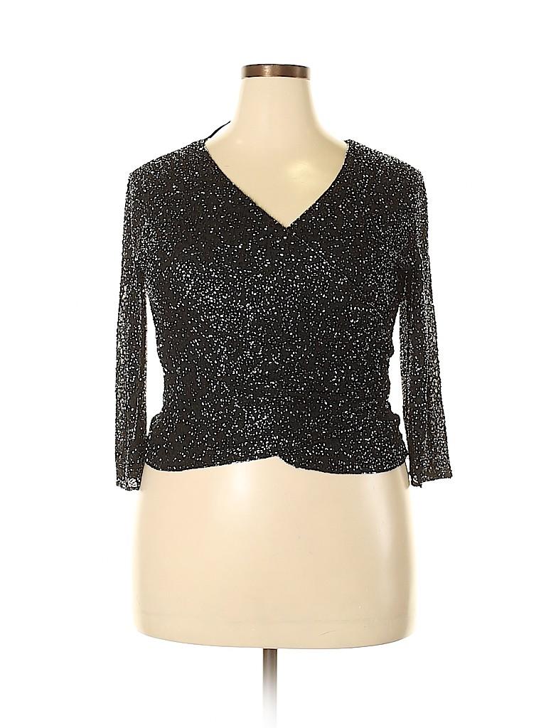 Jkara Women 3/4 Sleeve Blouse Size 14 (Petite)