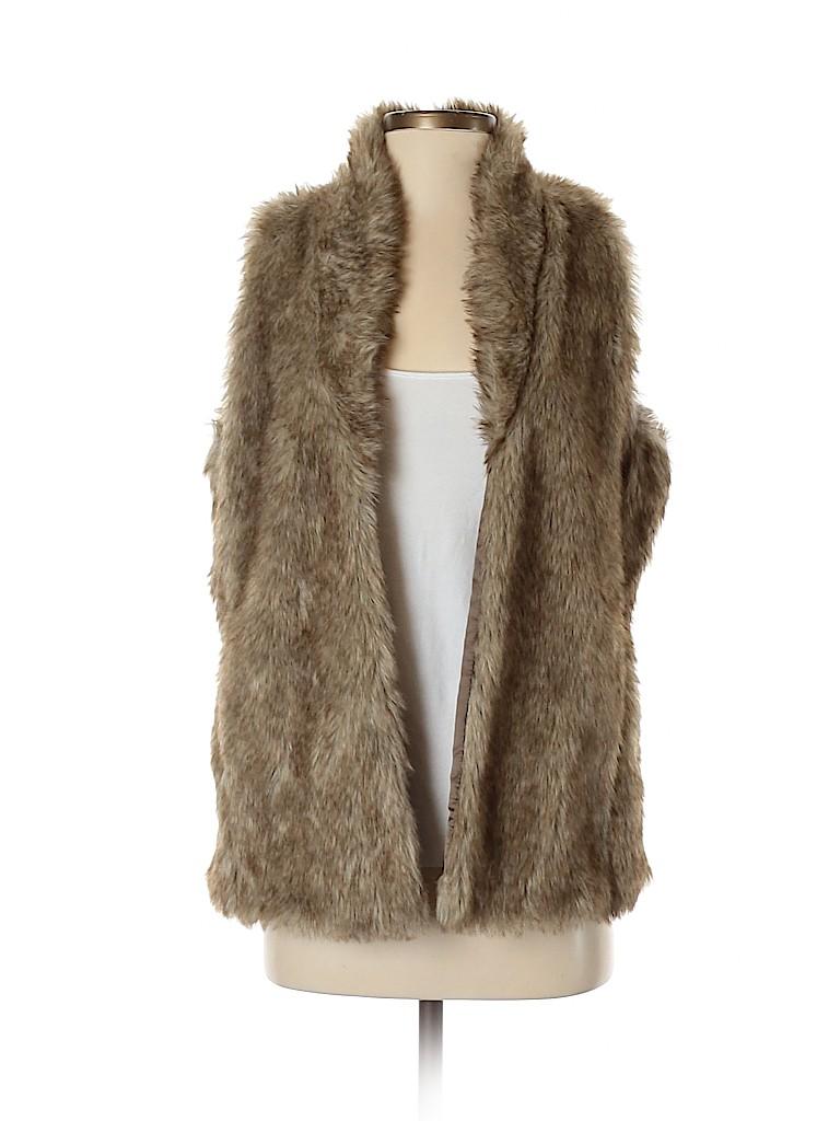 Charming Charlie Women Faux Fur Vest Size S