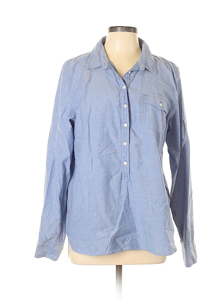 J. Crew Factory Store Women Long Sleeve Button-Down Shirt Size XL