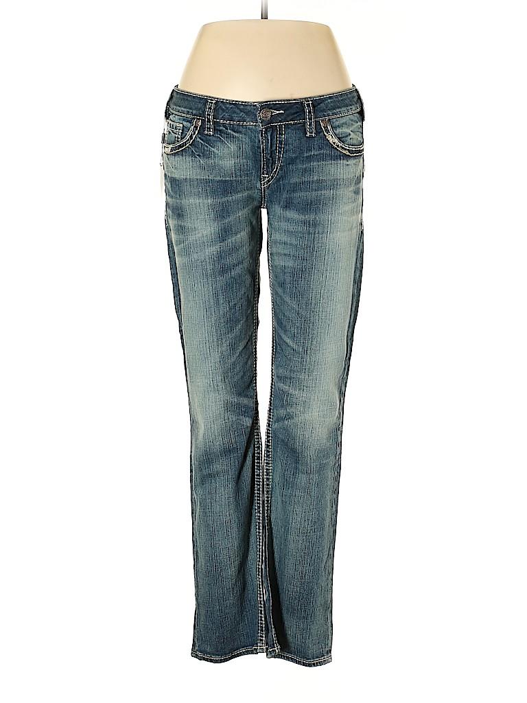 Silver Women Jeans 33 Waist