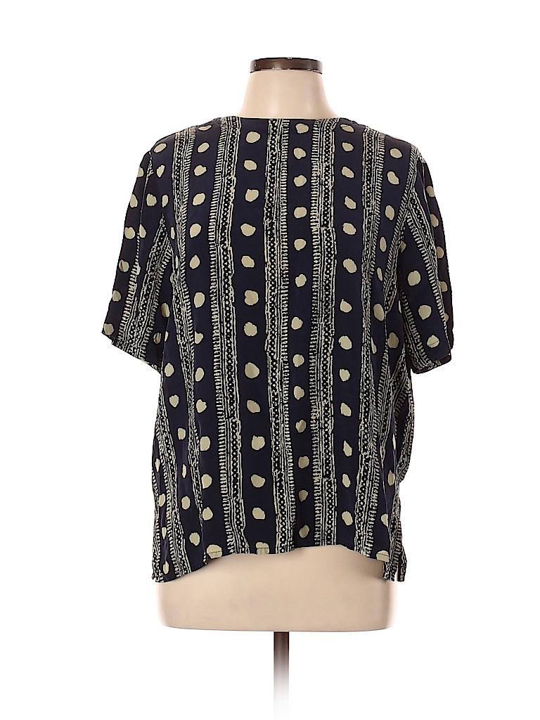 Preston & York Women Short Sleeve Silk Top Size L