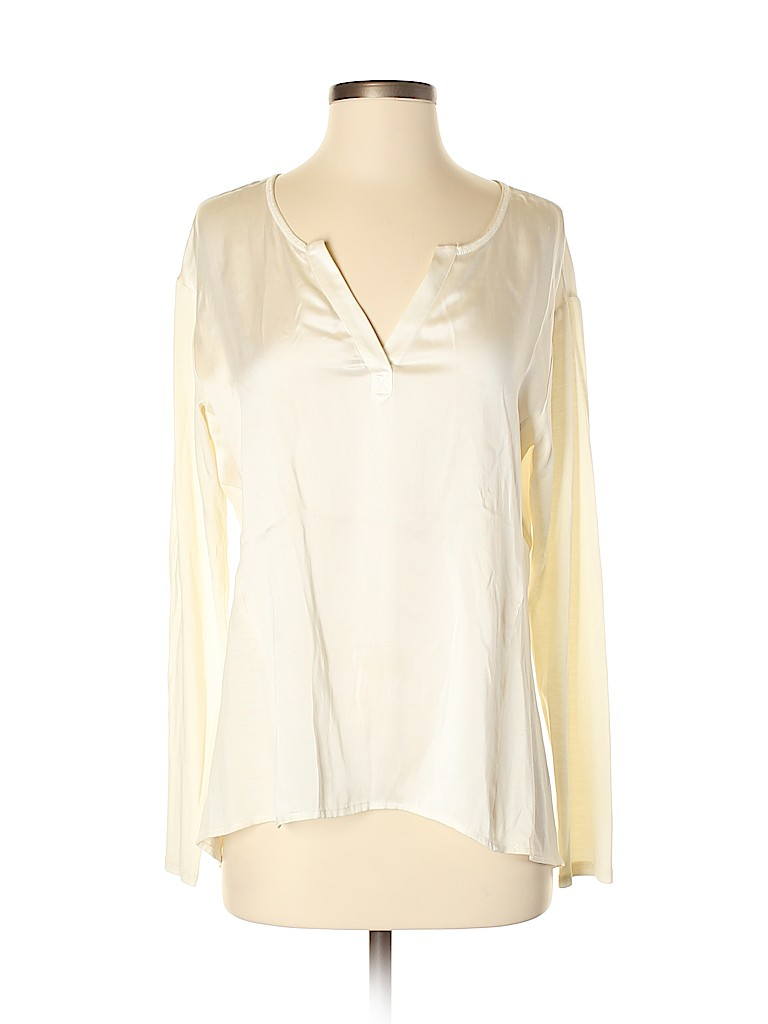 Go By Go Silk Women Long Sleeve Silk Top Size S