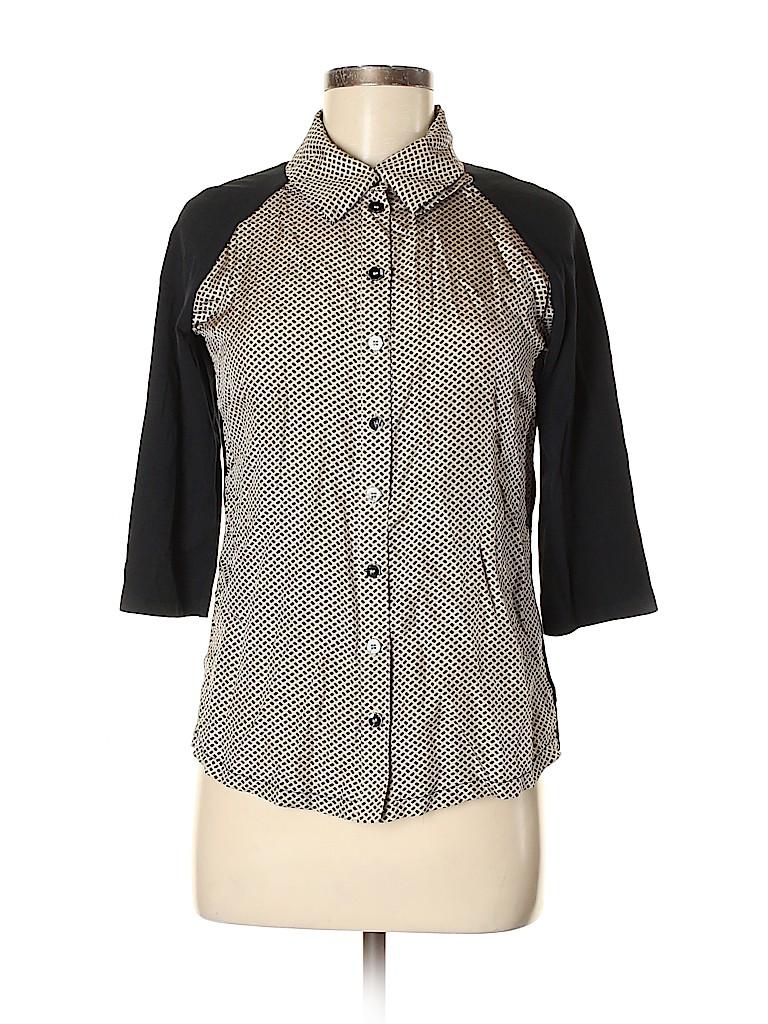 Weekend Max Mara Women 3/4 Sleeve Button-Down Shirt Size M