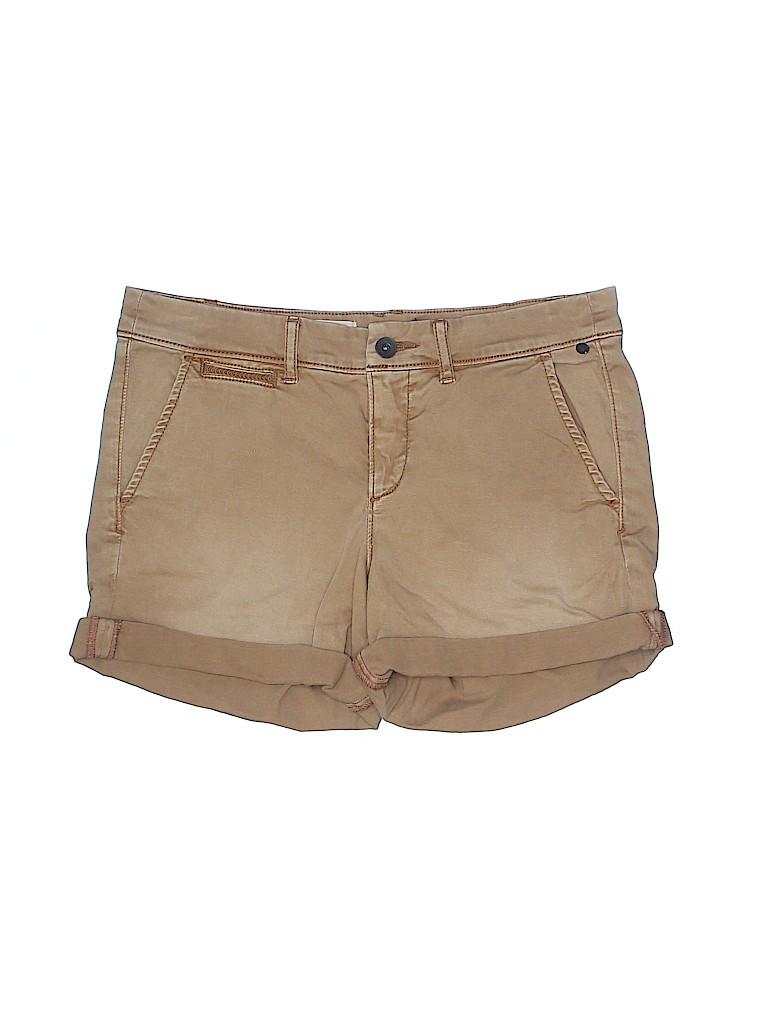 Pilcro and The Letterpress Women Khaki Shorts 28 Waist