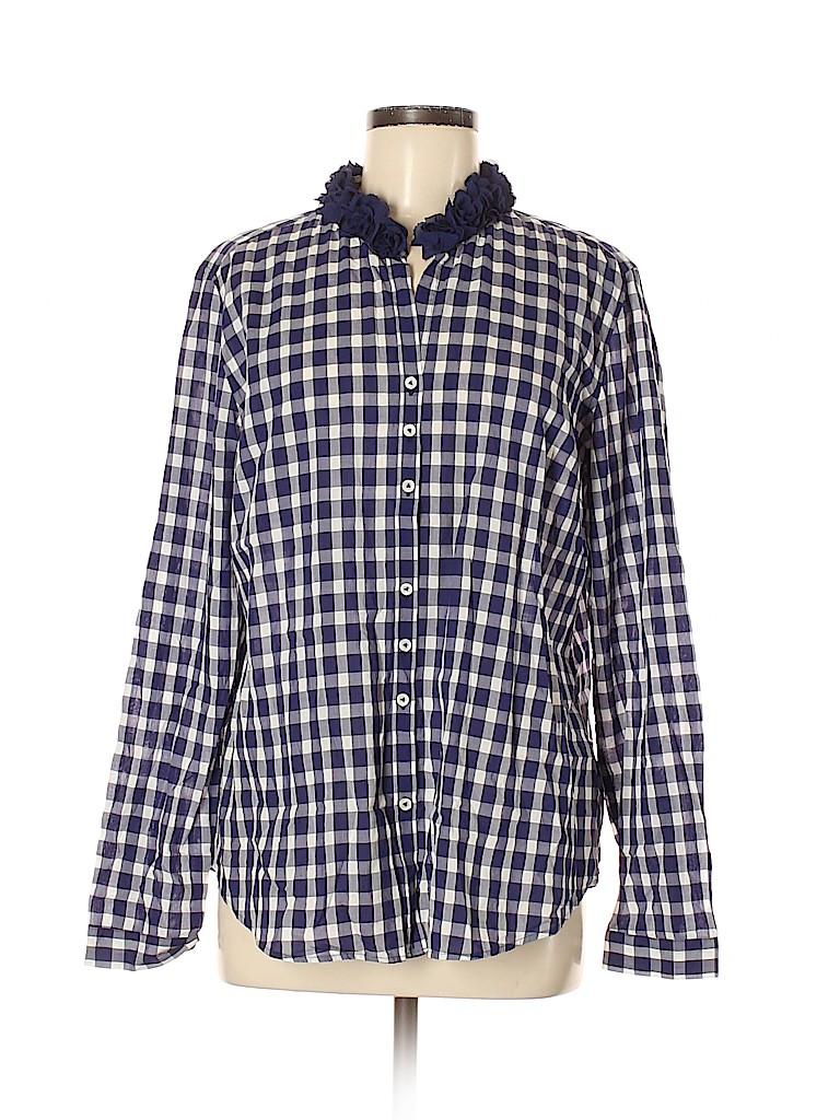Van Laack Women Long Sleeve Button-Down Shirt Size 44 (EU)
