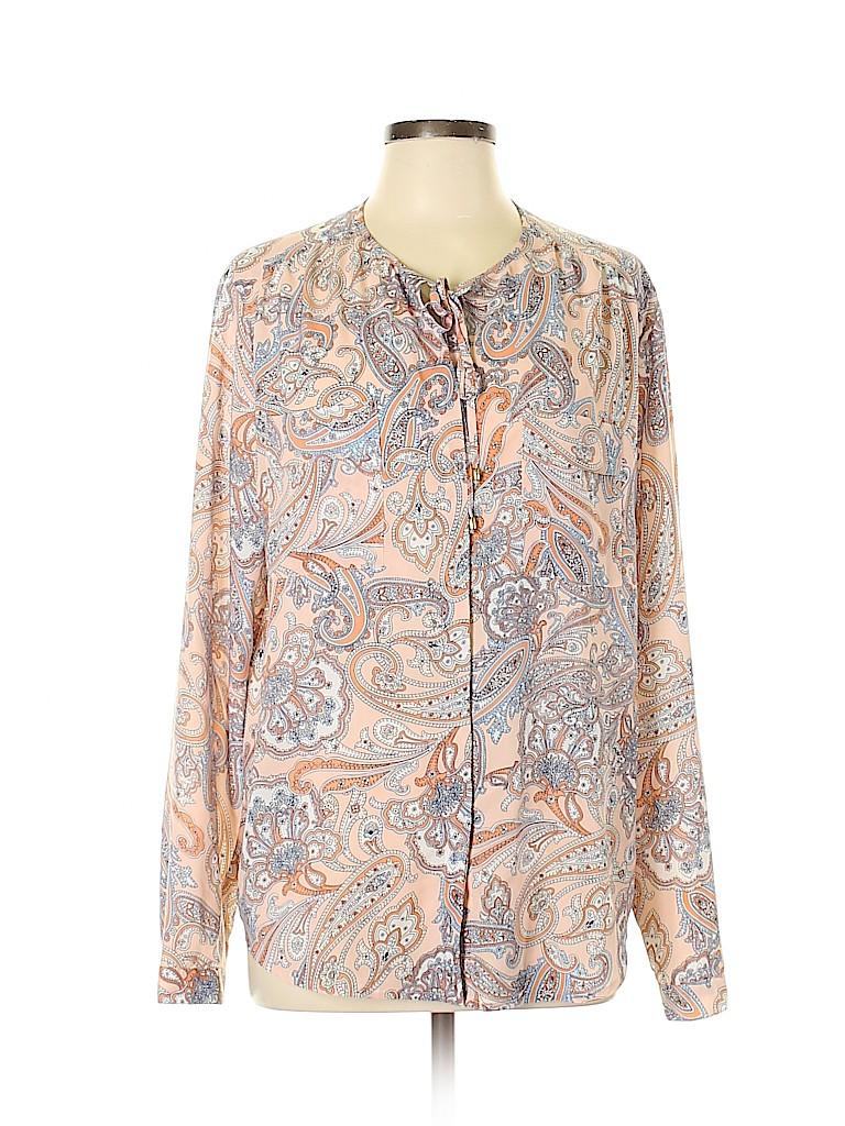 Jones New York Women Long Sleeve Blouse Size XL