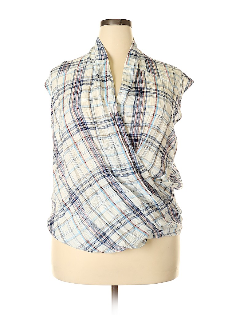 VICI Women Short Sleeve Blouse Size M