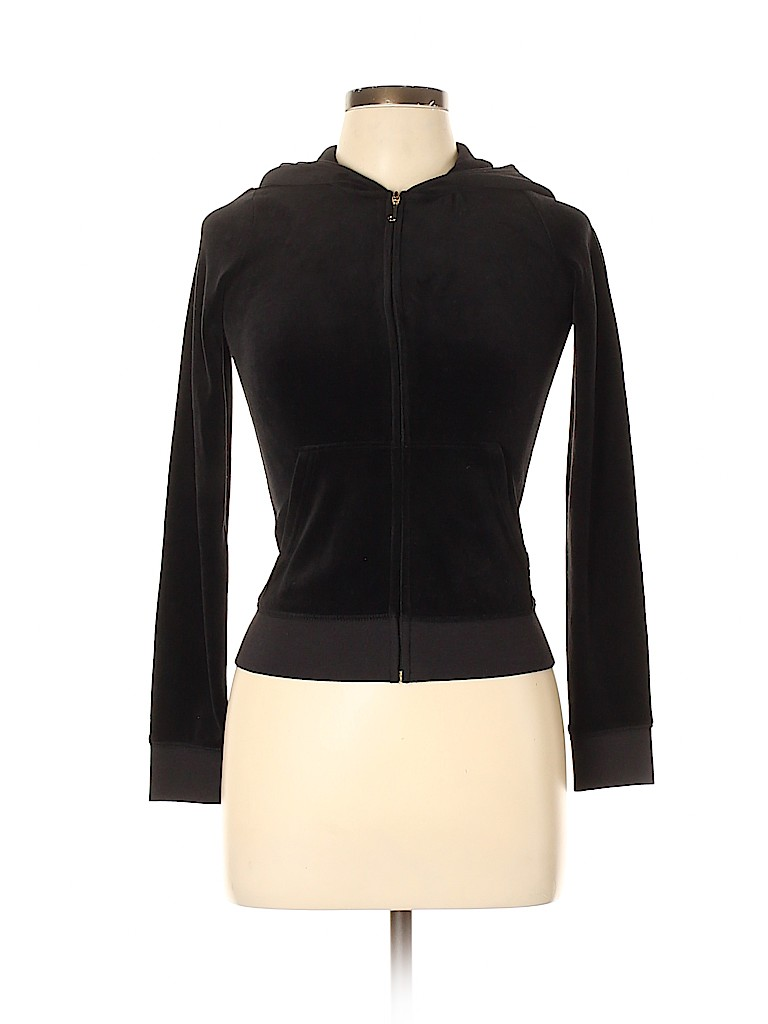Juicy Couture Black Label Women Zip Up Hoodie Size 14