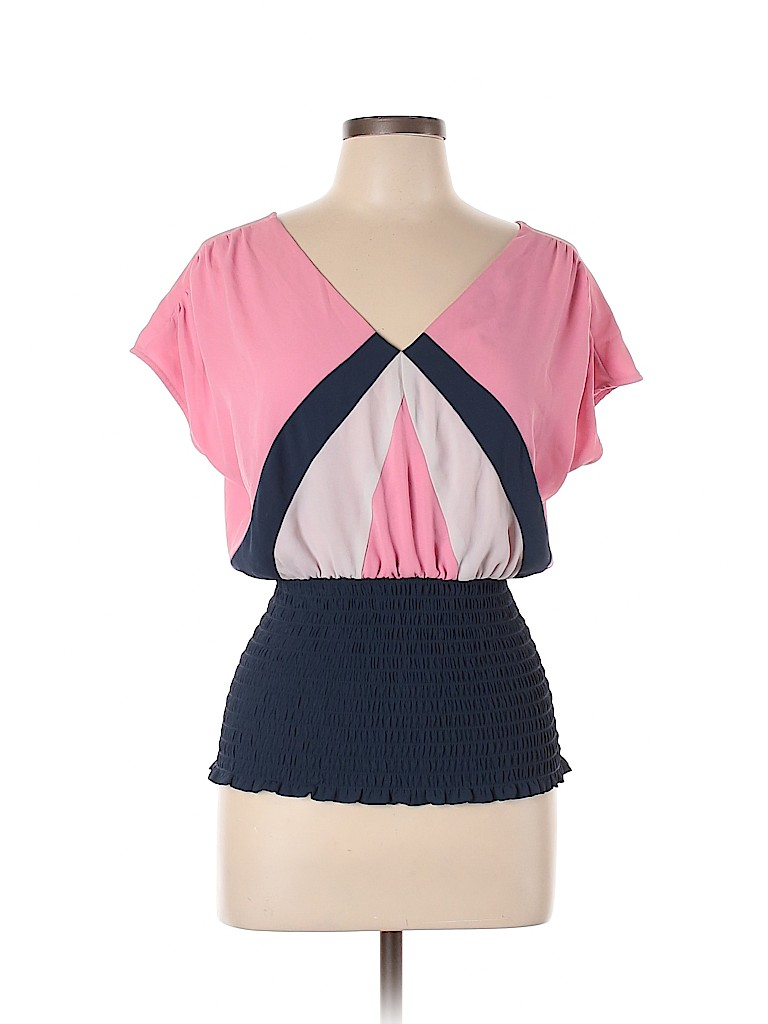XOXO Women Short Sleeve Blouse Size L