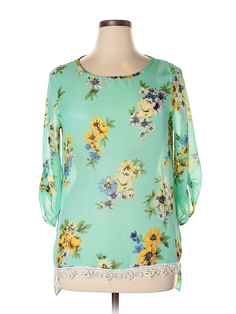 Assorted Brands Women Short Sleeve Blouse Size L
