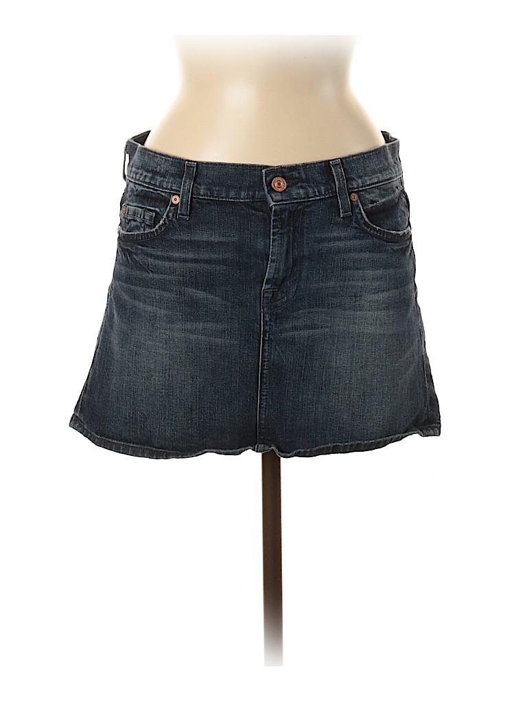 7 For All Mankind Women Denim Skirt 28 Waist