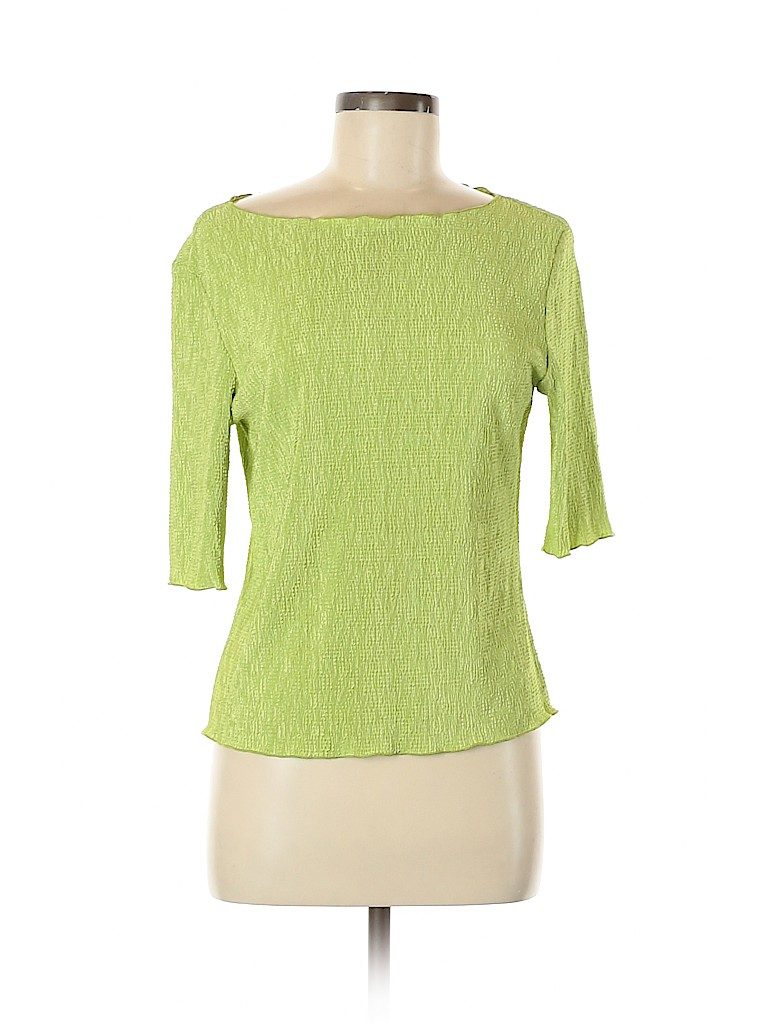 Connected Apparel Women Short Sleeve Top Size M