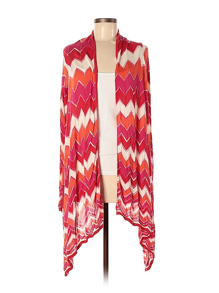 BCBGMAXAZRIA Women Silk Cardigan Size M