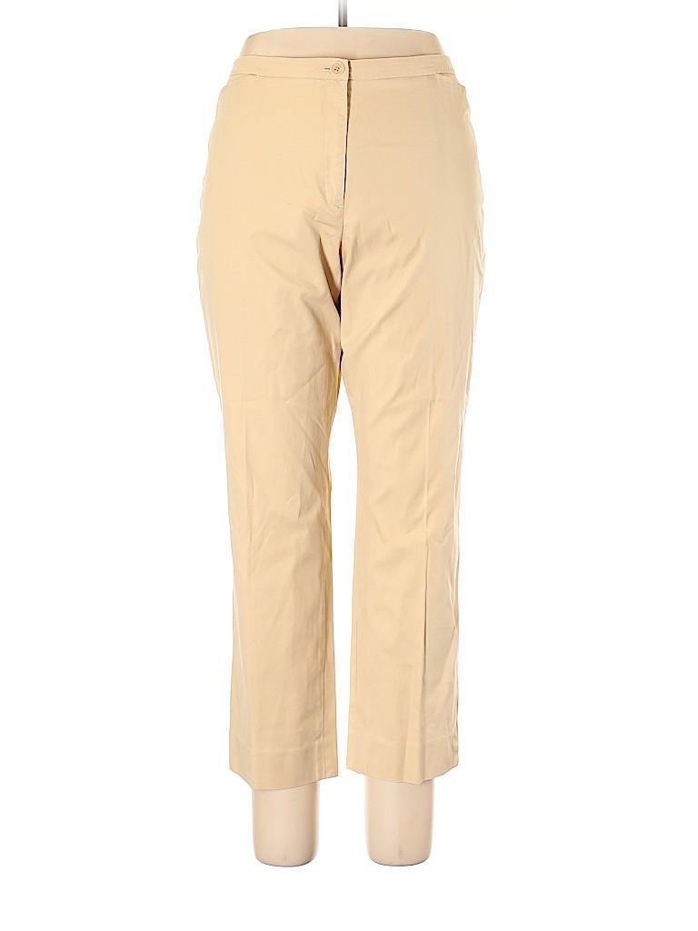 Faconnable Women Khakis Size 16