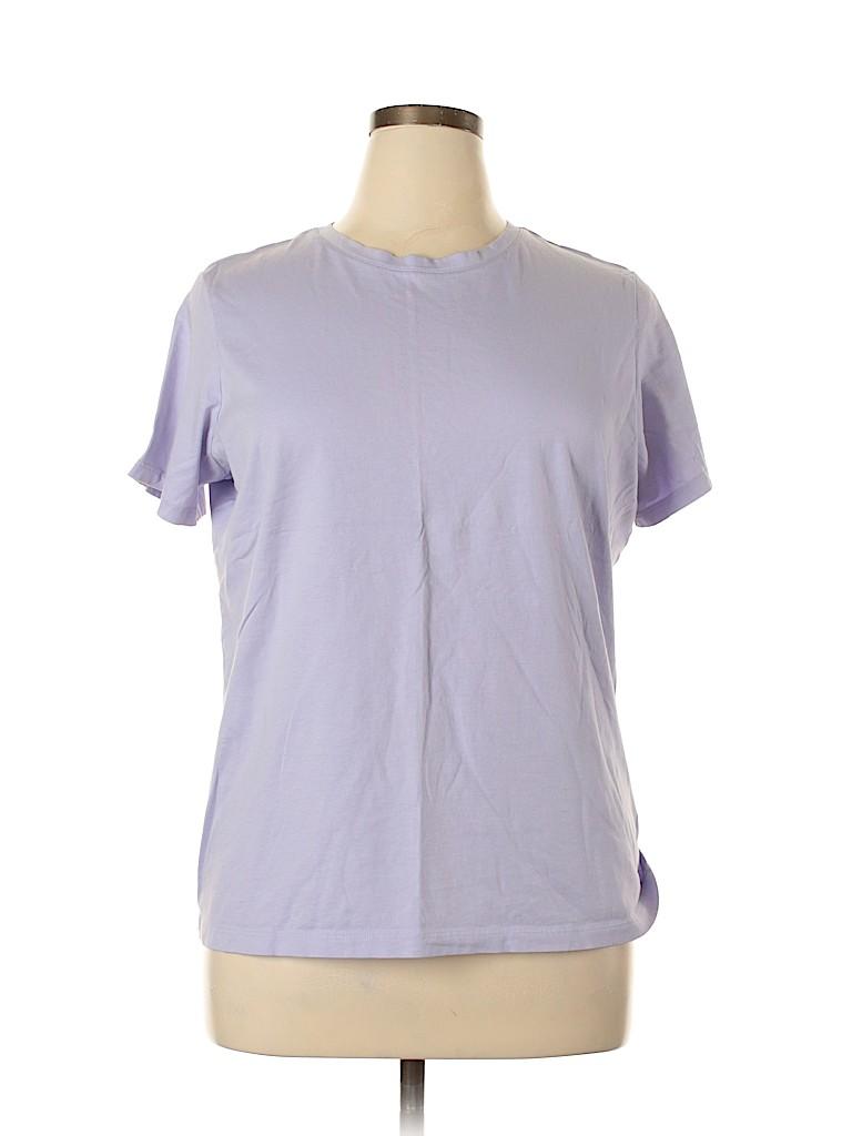 Lands' End Women Short Sleeve T-Shirt Size 14 - 16