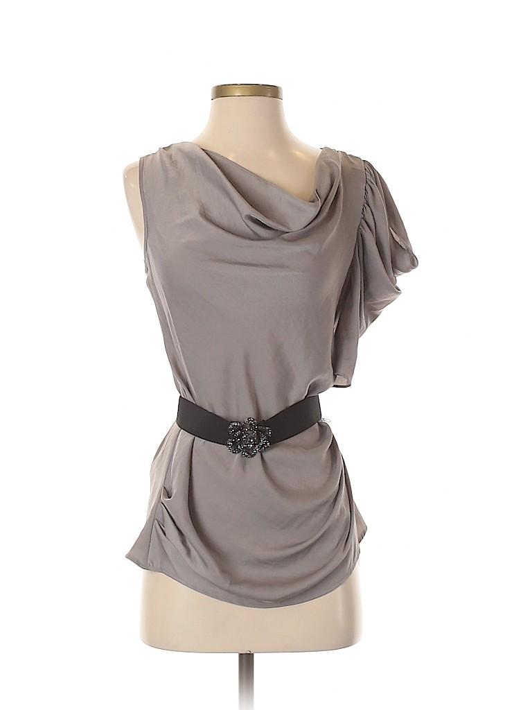 BCBGMAXAZRIA Women Short Sleeve Blouse Size XXS
