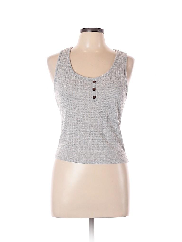 Assorted Brands Women Sleeveless Henley Size L