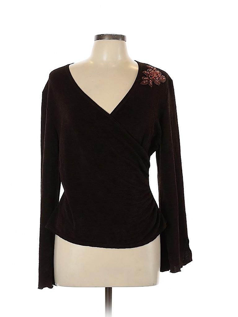 Coldwater Creek Women Long Sleeve Top Size L