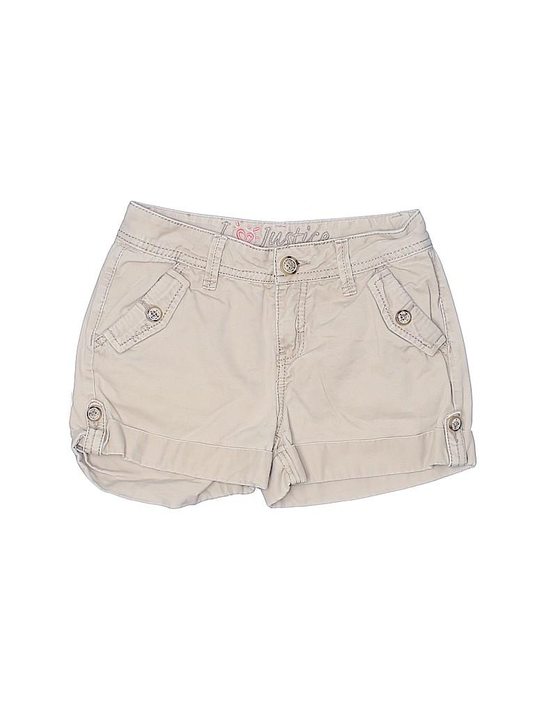 Justice Girls Khaki Shorts Size 12