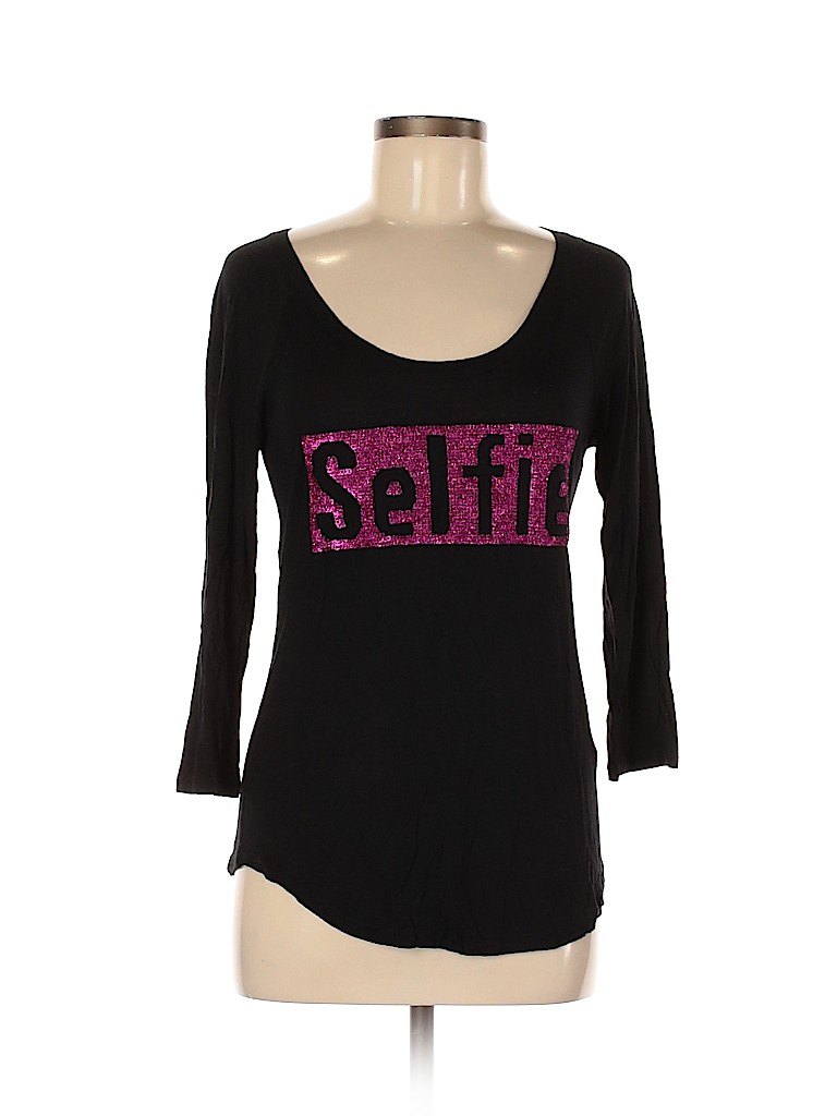 Juicy Couture Women 3/4 Sleeve T-Shirt Size M