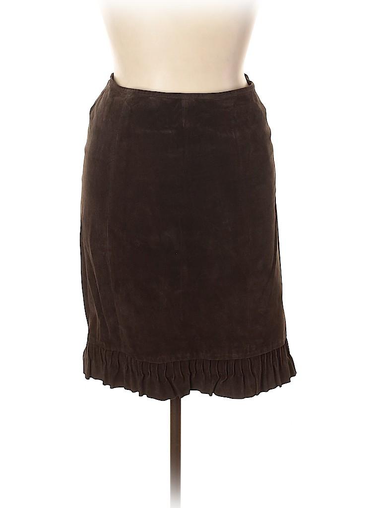 Newport News Women Leather Skirt Size 14