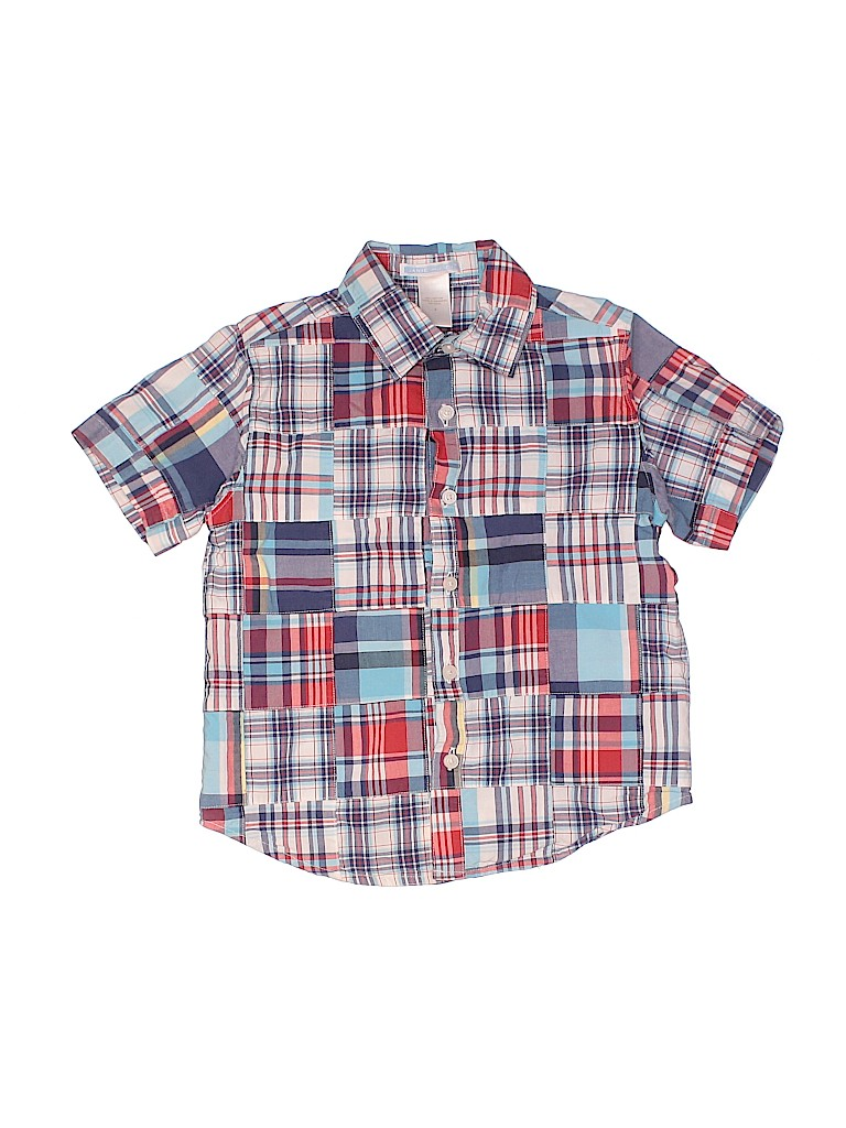 Janie and Jack Boys Short Sleeve Button-Down Shirt Size 4