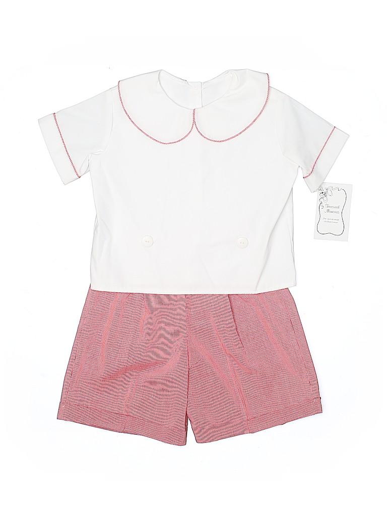 Assorted Brands Girls Short Sleeve Button-Down Shirt Size 4