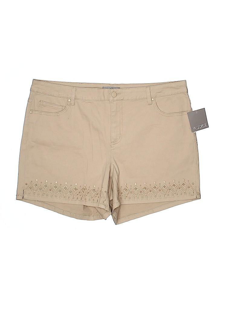 Falls Creek Women Denim Shorts Size 18 (Plus)