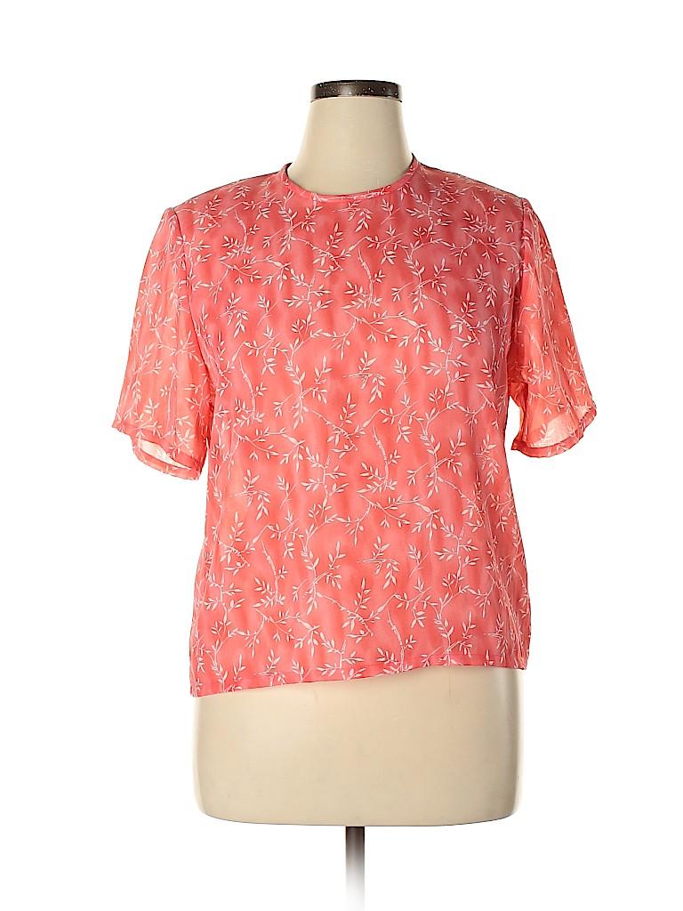 Pendleton Women Short Sleeve Blouse Size 14