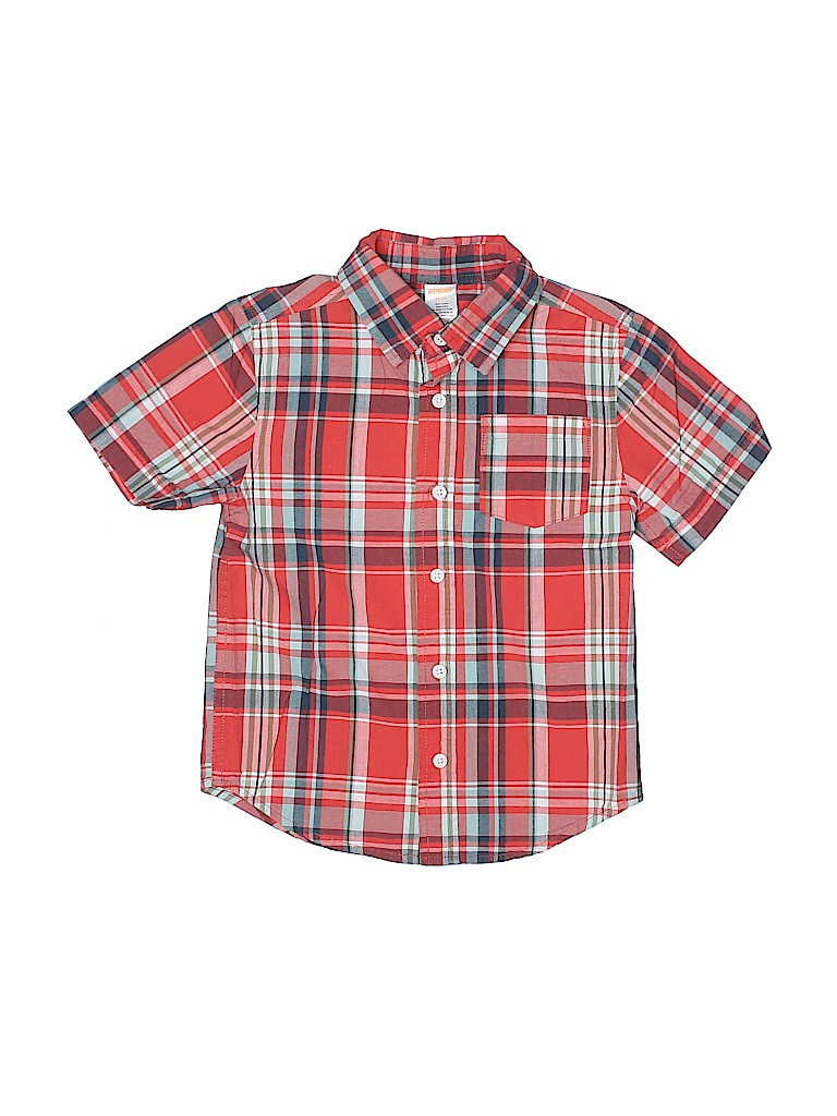 Gymboree Boys Short Sleeve Button-Down Shirt Size 4