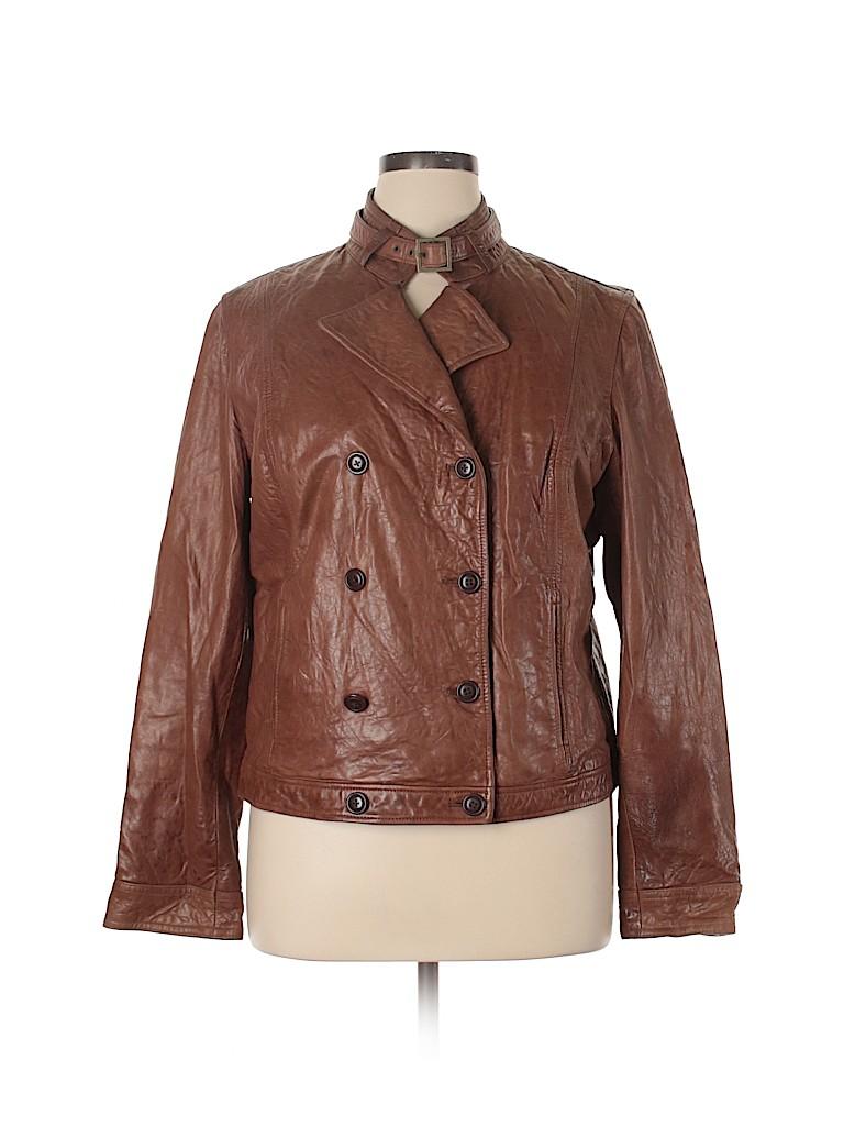 Old Navy Women Leather Jacket Size XL
