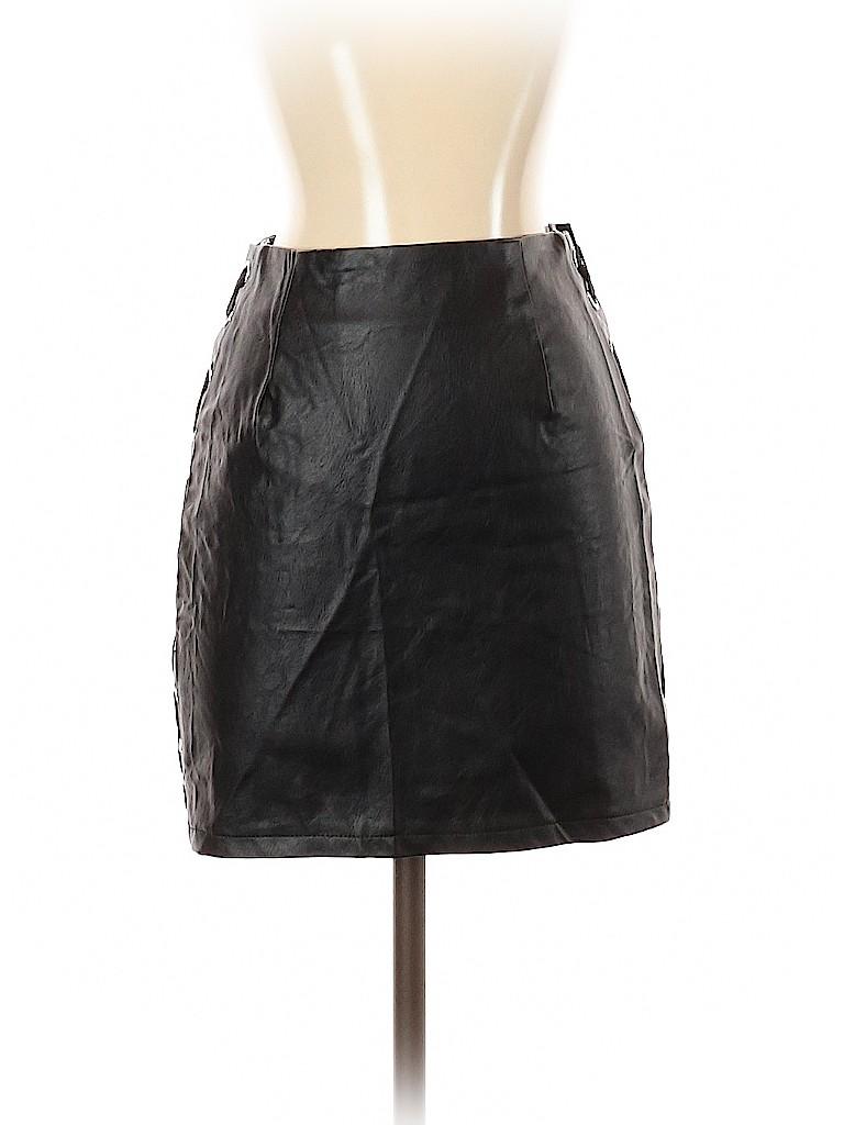 SEEK The Label Women Faux Leather Skirt Size XS