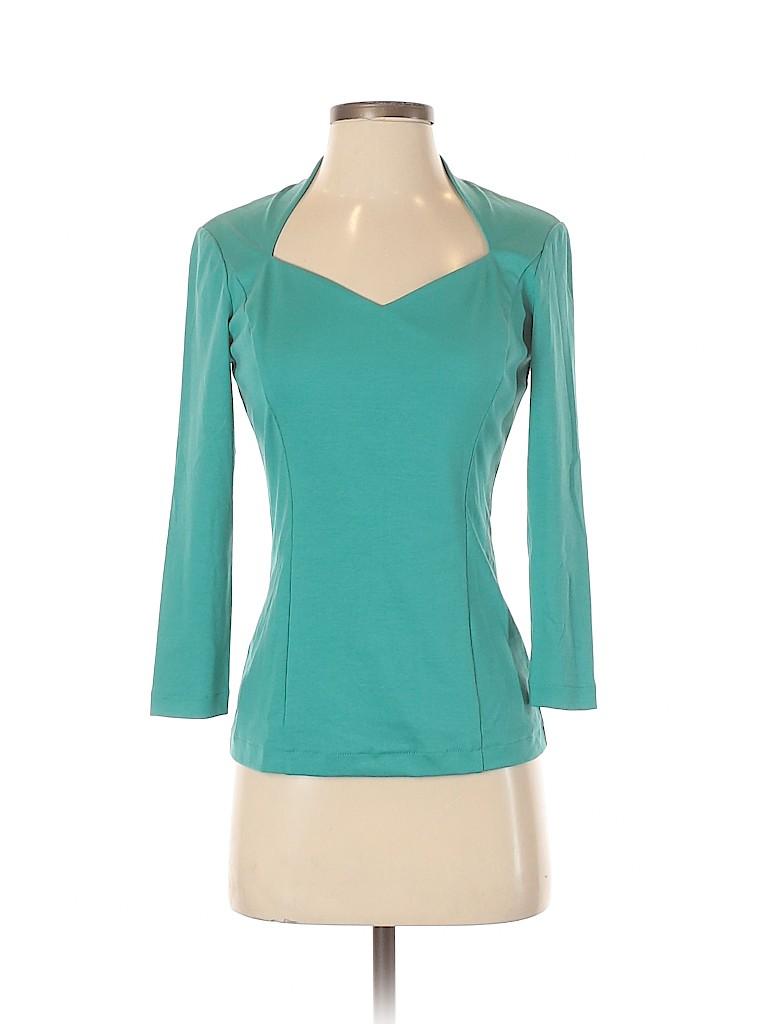 Lafayette 148 New York Women Long Sleeve Top Size S