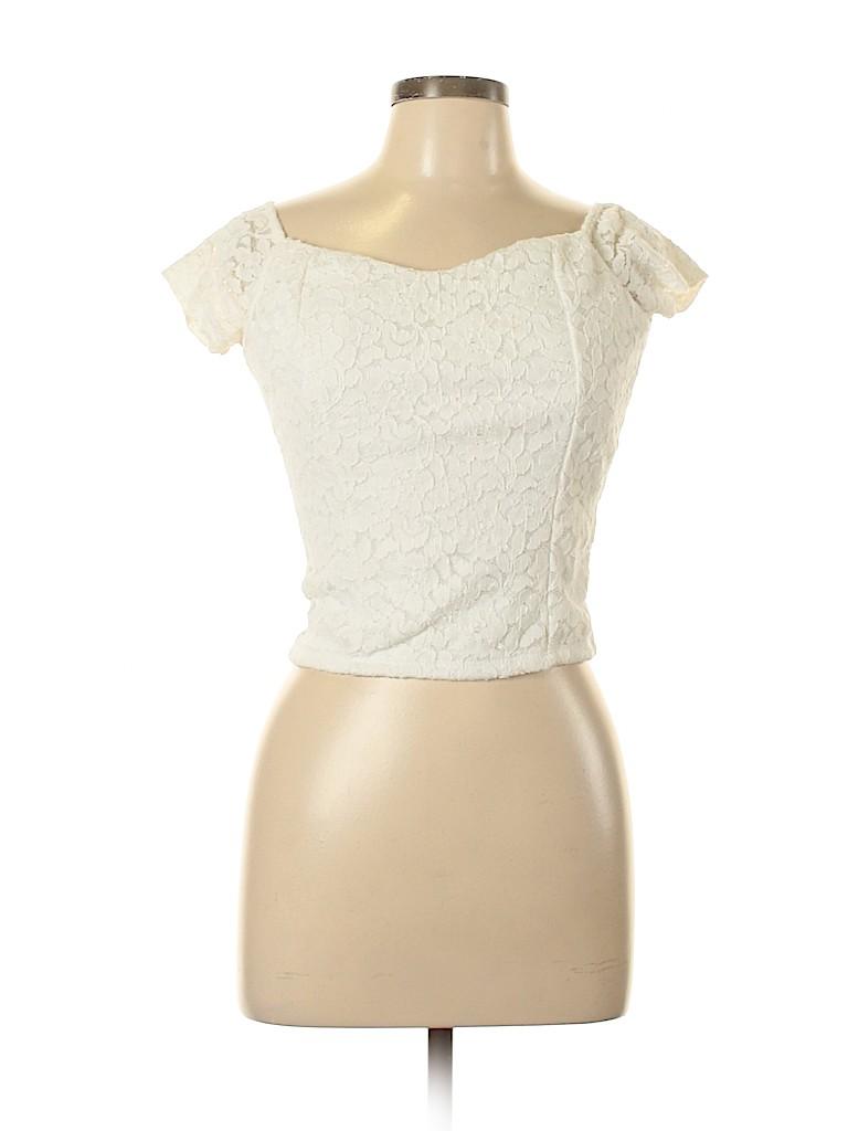 Charlotte Russe Women Short Sleeve Top Size L