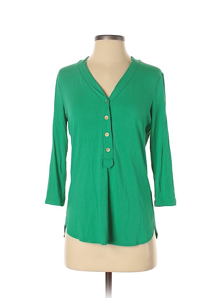 Donna Degnan Women 3/4 Sleeve Top Size S