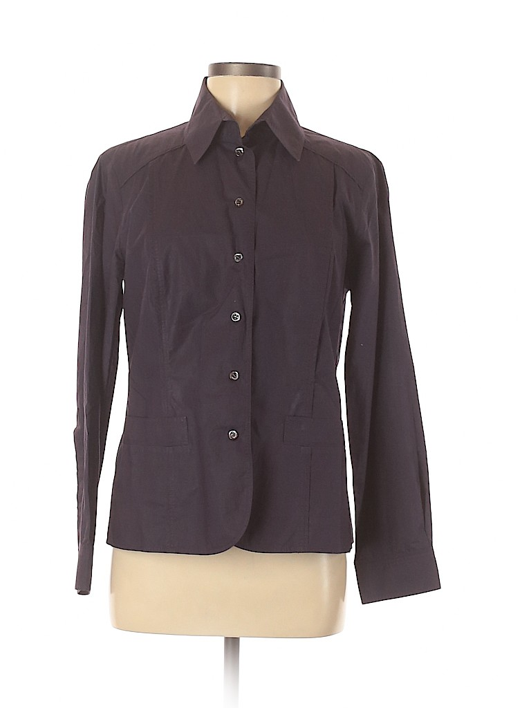 BOSS by HUGO BOSS Women Long Sleeve Button-Down Shirt Size 12
