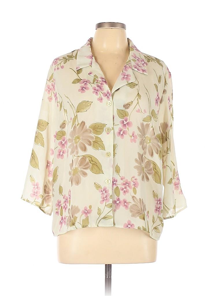 Kathie Lee Women Long Sleeve Blouse Size 16