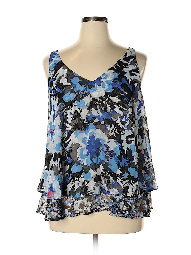 Lane Bryant Women Sleeveless Blouse Size 16 (Plus)