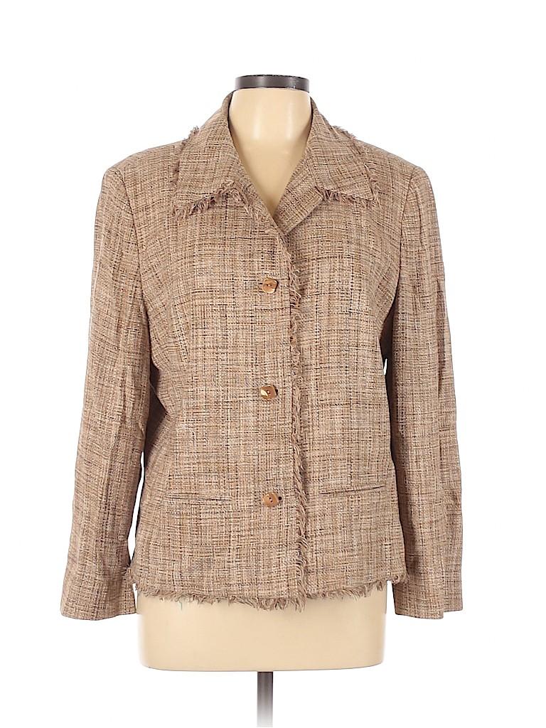 Dana Buchman Women Silk Blazer Size 16