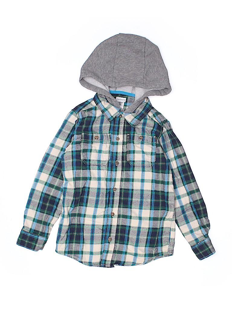 Carter's Boys Long Sleeve Button-Down Shirt Size 6