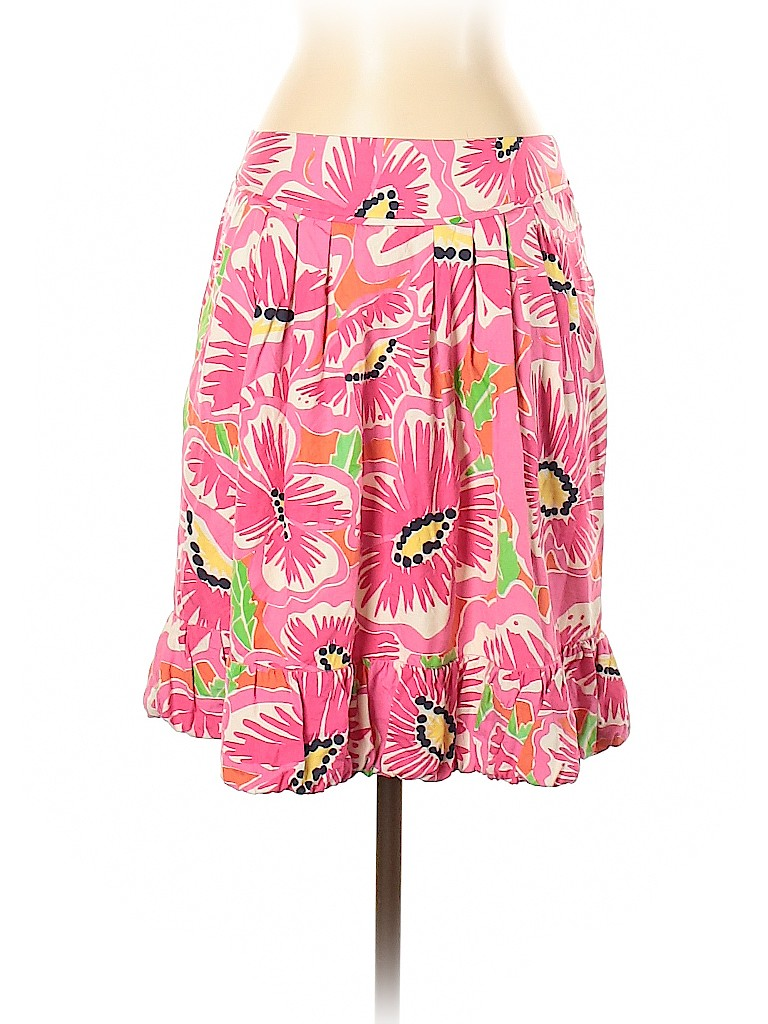 Lilly Pulitzer Women Silk Skirt Size 4