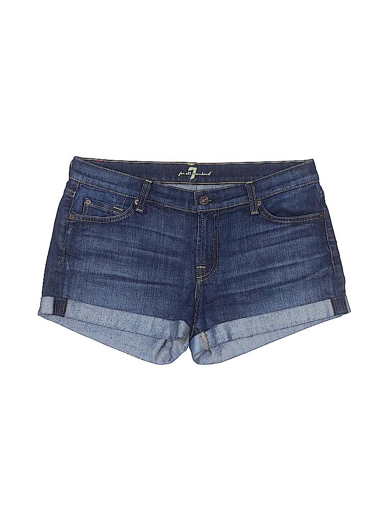 7 For All Mankind Women Denim Shorts 30 Waist